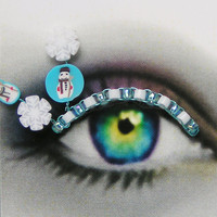 False Eyelashes winter snowmen and snowflakes Eyelash by Spirys