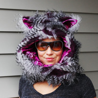 One Man Wolfpack Hoodie scarf with mittens featured by ToppedHats