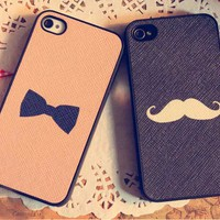 Moustache / Bowtie iPhone 4/4S Case from WANDERLUSTINY