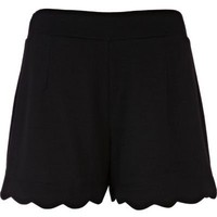 black scallop hem shorts - casual shorts - shorts - women - River Island