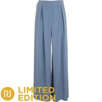 light blue palazzo - palazzo trousers - trousers / leggings - women - River Island