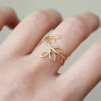 Branch Ring  Silver or Gold by TheAlteredChain on Etsy