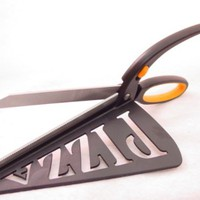 PIZZA SCISSORS / SPATULA - CUT n SERVE Stainless Steel