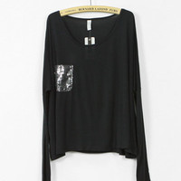 Pocketed long sleeve t-shirt