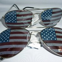 American Flag Aviator Sunglasses Glasses 2
