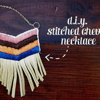 D.I.Y. Stiched Chevron Necklace - A Beautiful Mess