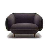 Iskos-Berlin: Basset Armchair Charcoal