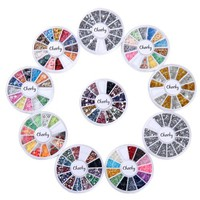 Nail Decorations By Cheeky- 10 Nail Decoration Wheels of Premium Manicure Nail Art Decorations in M