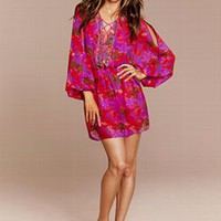 Lace-up Caftan Cover-up Dress - Victoria's Secret