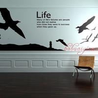 new design Beautiful sea,Lighthouse, Vinyl Wall Sticker,Wall Decal Murals Home Decors Art