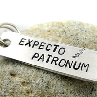 Expecto Patronum Keychain or Zipper Pull Pure Aluminum by foxwise