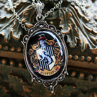 FIVE OFF SALE Hufflepuff House Crest Necklace by Psyanea on Etsy