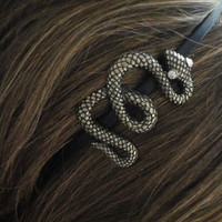 antique Gold Snake Slytherin Hair Black Alice by midnightsunn