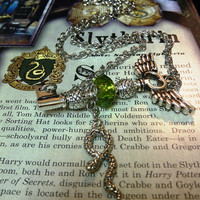 Harry Potter Slytherin Pride Flying Key Necklace by Lionheart33