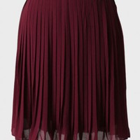 wine date pleated skirt at ShopRuche.com
