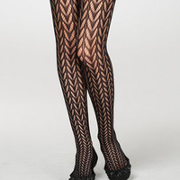 Crocheted Leaflet Tights | Stylish Black Lace Tights | fredflare.com