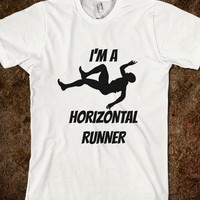 I'm A Horizontal Runner - Fuchsia Clouds