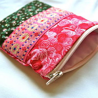&#x27;rosy ribbons&#x27; large zip purse by evajeanie | notonthehighstreet.com