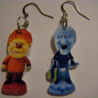 $8.95 Heat Miser Snow Miser Earrings Year without by CREATEHAPPINESS