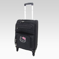shop.sanrio.com - Hello Kitty 18 Rolling Travel Case: Black Logo