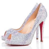 Christian Louboutin Very Riche 120mm Peep Toe Pumps