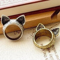 Cute Cat Ears Ring by bunnycloset on Etsy