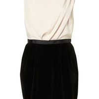 Velvet Colour Block Shift Dress - Dresses - Clothing - Topshop