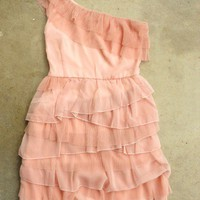 Tiered Peony Chiffon Party Dress [2388] - $36.55 : Vintage Inspired Clothing & Affordable Fall Frocks, deloom | Modern. Vintage. Crafted.