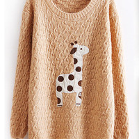 Lovely dots giraffe sweater-EMS