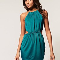 ASOS | ASOS Cut Out Dress with Chain Neck at ASOS