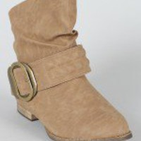 Rollen Buckle Riding Ankle Bootie