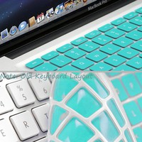 GMYLE® Turquoise Robin Egg Blue Keyboard Cover for Macbook Air Pro 13 15 15 Pro Retina 17 US model