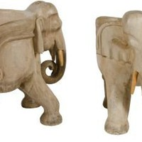 One Kings Lane - Jean de Merry - Elephant Chairs, Pair