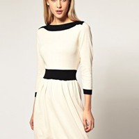 ASOS | ASOS Knitted Dress With Boat Neck at ASOS
