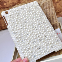 bling pearls handmade  case for ipad Mini hard cover