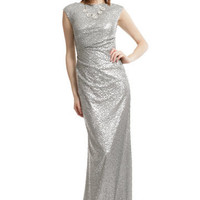 Silver Sequin Shine Gown | Rent The Runway