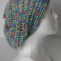 Slouchy Hat - Women -Simply Soft Multi Colored
