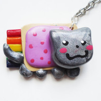 NYAN CAT KEYCHAIN by FrozenNote on Etsy