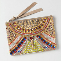 Kaleidoscope Lens Beaded Clutch