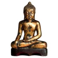 One Kings Lane - Dessau Home - Gold Resin Antique Budda Statue