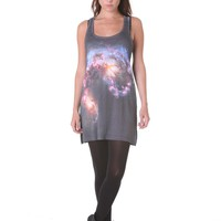 YourEyesLie- - 100% RAYON CLASSIC LONGLINE VEST w/PHOTOGRAPHIC PRINT Online store Shop the collection