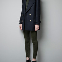 SHORT MILITARY COAT - Coats - Woman - ZARA Netherlands