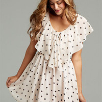 Julienne Polka-Dot Dress