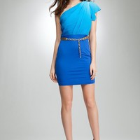 BB Colorblock Flutter Sleeve Dress Day Dresses Vivid Ombre 4-s
