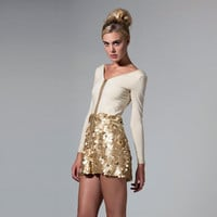 Gold Sequins Dress Two piece dress made to order by Th3rdPalac3