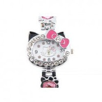 20090180 Cute Kitty Crystal-decorated Bracelet Watch (Pink) Hot Sale At Wholesale Price - Gadgetsdealer.com