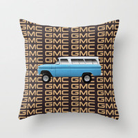 GMC trucks - Chev Suburban tribute to one of the first truck based SUV's Throw Pillow by Bruce Stanfield | Society6