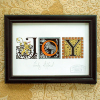 JOY Framed giclee print on fine art paper of by unorthodoxicons