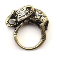 vintage gold elephant ring fashion symbols mean lucky rings women from ClothLess