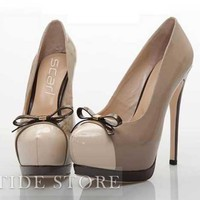 New Platform Stiletto Heel Round-toe Women's Shoes: tidestore.com